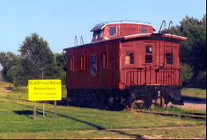 Train car in maarshall County
