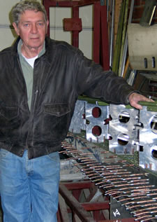 Ken shows a portion of an airplane wing