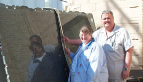 Jim and Ruth Bell's artistry with stone is reflected in their work.