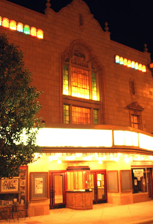 Booth Theatre at night